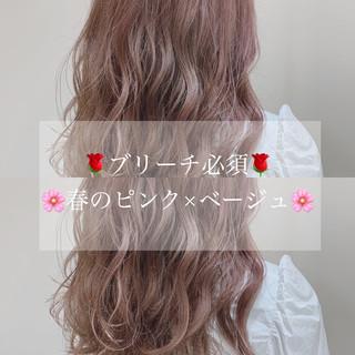 ミディアム 透明感カラー ピンクアッシュ 鎖骨ミディアム ヘアスタイルや髪型の写真・画像