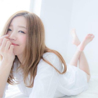 外国人風 ロング 大人かわいい ガーリー ヘアスタイルや髪型の写真・画像