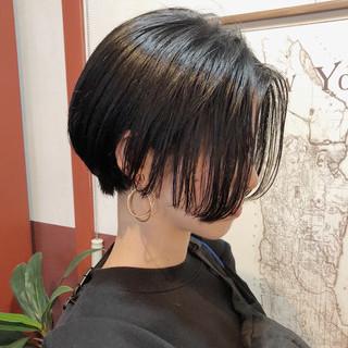 ショート モード ボブ ナチュラル ヘアスタイルや髪型の写真・画像