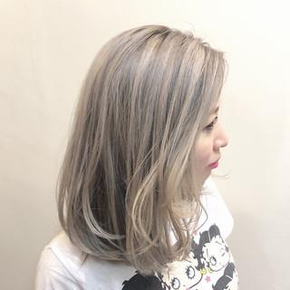 グラデーションカラー 透明感 ストリート ボブ ヘアスタイルや髪型の写真・画像