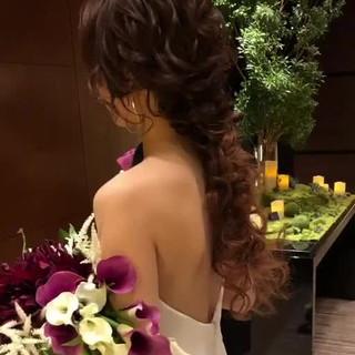 エレガント ヘアアレンジ 大人かわいい 結婚式ヘアアレンジ ヘアスタイルや髪型の写真・画像