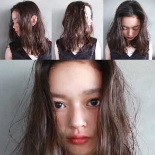 暗髪 パーマ 外国人風 ストリート ヘアスタイルや髪型の写真・画像