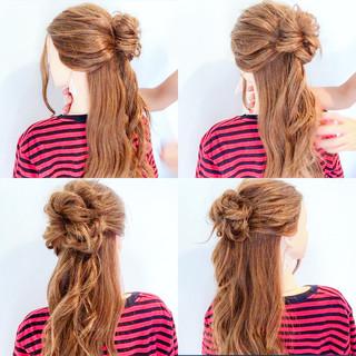 夏 簡単ヘアアレンジ ヘアアレンジ ロング ヘアスタイルや髪型の写真・画像