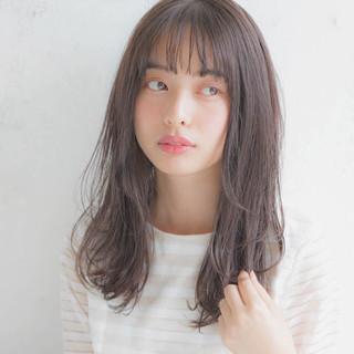 透明感 女子力 セミロング フェミニン ヘアスタイルや髪型の写真・画像