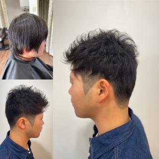 メンズカット メンズヘア ショート メンズパーマ ヘアスタイルや髪型の写真・画像