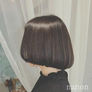 フェミニン デート オフィス ボブ ヘアスタイルや髪型の写真・画像