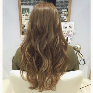 外国人風 グラデーションカラー ナチュラル ロング ヘアスタイルや髪型の写真・画像