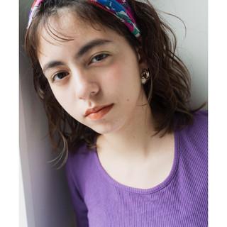 ミディアム セルフヘアアレンジ ヘアアレンジ アウトドア ヘアスタイルや髪型の写真・画像
