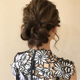 ゆるふわ ヘアアレンジ 上品 デート ヘアスタイルや髪型の写真・画像