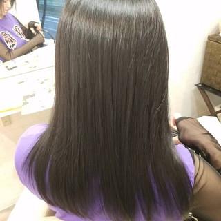 モード ロング 縮毛矯正 縮毛矯正ストカール ヘアスタイルや髪型の写真・画像