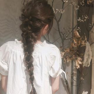 ナチュラル 女子会 結婚式 ロング ヘアスタイルや髪型の写真・画像