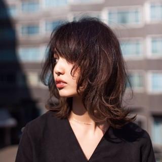 ミディアム セミロング コンサバ 似合わせ ヘアスタイルや髪型の写真・画像
