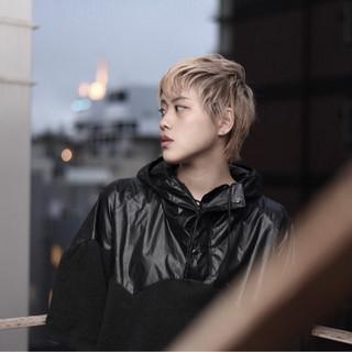 ウェットヘア イルミナカラー 外国人風カラー ストリート ヘアスタイルや髪型の写真・画像