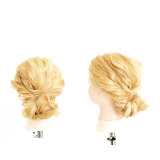 くせ毛風 簡単ヘアアレンジ 外国人風 セミロング ヘアスタイルや髪型の写真・画像