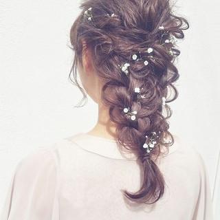ショート ヘアアレンジ 編み込み ミディアム ヘアスタイルや髪型の写真・画像