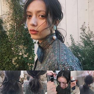 大人女子 ニュアンス 前髪あり ナチュラル ヘアスタイルや髪型の写真・画像