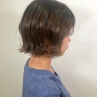 切りっぱなしボブ ボブ ミニボブ ナチュラル ヘアスタイルや髪型の写真・画像
