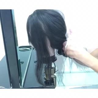 簡単ヘアアレンジ 色気 オフィス セミロング ヘアスタイルや髪型の写真・画像