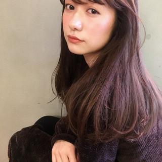流し前髪 ナチュラル 韓国風ヘアー 韓国ヘア ヘアスタイルや髪型の写真・画像
