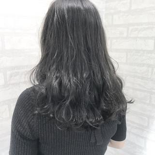 外国人風カラー ミディアム 冬 グレージュ ヘアスタイルや髪型の写真・画像