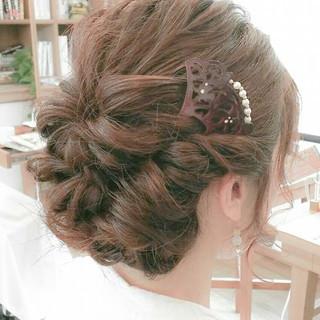 花火大会 簡単ヘアアレンジ 夏 ヘアアレンジ ヘアスタイルや髪型の写真・画像