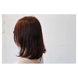 セミロング アッシュ グラデーションカラー ミディアム ヘアスタイルや髪型の写真・画像