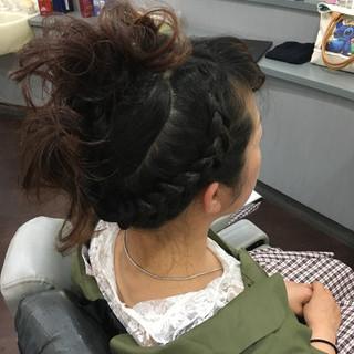 ヘアアレンジ 上品 エレガント ロング ヘアスタイルや髪型の写真・画像