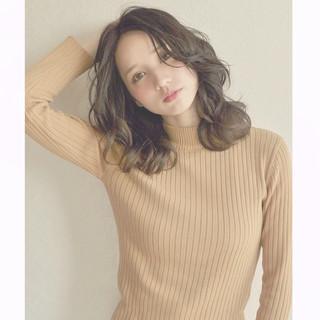 透明感 外国人風 簡単 暗髪 ヘアスタイルや髪型の写真・画像