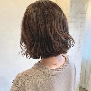 パーマ ニュアンスパーマ アンニュイほつれヘア ボブ ヘアスタイルや髪型の写真・画像