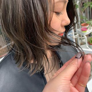 大人ミディアム ナチュラル ヘアアレンジ 大人ハイライト ヘアスタイルや髪型の写真・画像 ヘアスタイルや髪型の写真・画像