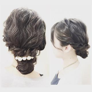 ロング ショート ヘアアレンジ 波ウェーブ ヘアスタイルや髪型の写真・画像 ヘアスタイルや髪型の写真・画像