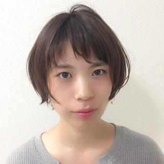 涼しげ 大人かわいい ナチュラル ショート ヘアスタイルや髪型の写真・画像