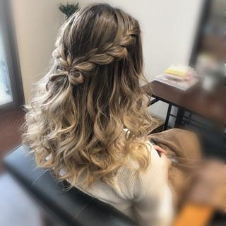 ヘアアレンジ 編み込みヘア ヘアセット 編み込み ヘアスタイルや髪型の写真・画像