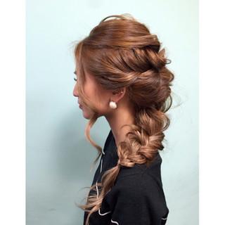 外国人風 ヘアアレンジ ハーフアップ ゆるふわ ヘアスタイルや髪型の写真・画像