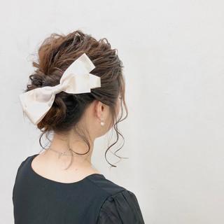 ヘアアレンジ ヘアアクセ ミディアム 結婚式 ヘアスタイルや髪型の写真・画像 ヘアスタイルや髪型の写真・画像