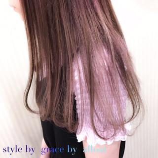 ミディアム ピンク 外国人風カラー ミルクティーベージュ ヘアスタイルや髪型の写真・画像