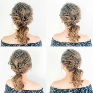 女子会 デート アウトドア セミロング ヘアスタイルや髪型の写真・画像