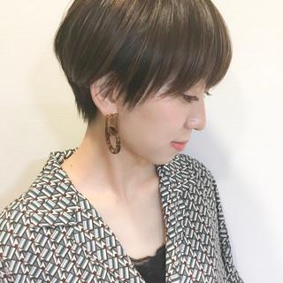 前髪 ハンサムショート マッシュショート ナチュラル ヘアスタイルや髪型の写真・画像
