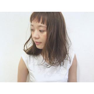 ストリート ミディアム 前髪あり ロブ ヘアスタイルや髪型の写真・画像