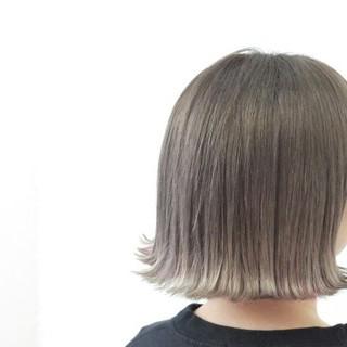 ストリート グレージュ ボブ 透明感 ヘアスタイルや髪型の写真・画像