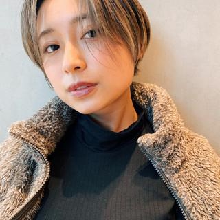 ハイライト ショートボブ ショート 阿藤俊也 ヘアスタイルや髪型の写真・画像