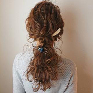 ロング ヘアアレンジ ゆるふわ 編みおろしヘア ヘアスタイルや髪型の写真・画像
