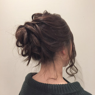 ヘアアレンジ ロブ 謝恩会 ナチュラル ヘアスタイルや髪型の写真・画像
