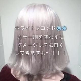 ストリート 金髪 ダブルカラー ホワイト ヘアスタイルや髪型の写真・画像