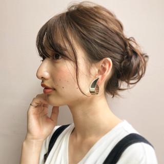 ナチュラル 夏 ヘアアレンジ ミディアム ヘアスタイルや髪型の写真・画像