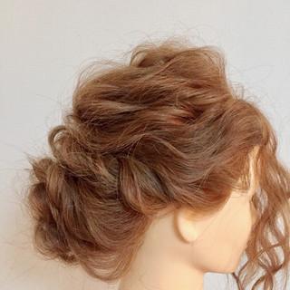 結婚式 謝恩会 ヘアアレンジ ミディアム ヘアスタイルや髪型の写真・画像