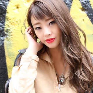 小顔 ロング こなれ感 ストリート ヘアスタイルや髪型の写真・画像