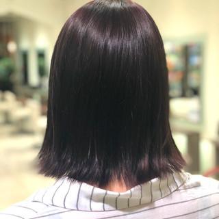 ピンク ボブ ストリート ラベンダーピンク ヘアスタイルや髪型の写真・画像