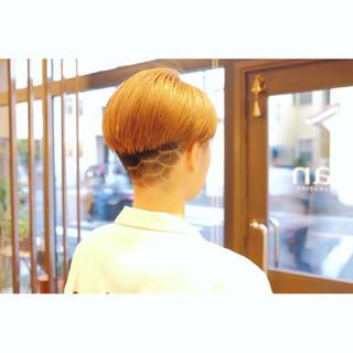デザイン モード ベリーショート ショート ヘアスタイルや髪型の写真・画像