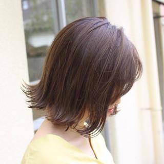 ナチュラル グラデーション ベージュ ミニボブ ヘアスタイルや髪型の写真・画像